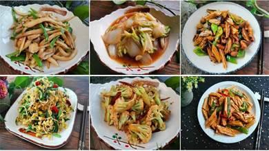 10道家常菜,不用放肉,素炒更有味,味道不輸大魚大肉