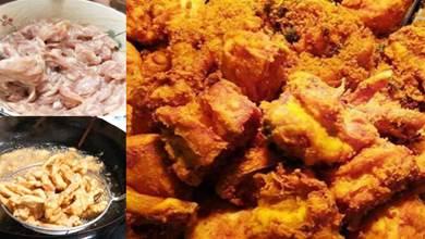 炸酥肉時, 只放麵粉和雞蛋是不對的, 牢記1招, 酥肉香酥不油膩