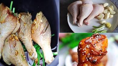 原來用電飯鍋做烤雞腿這麽好吃,不用一滴油一滴水,做法簡單省事