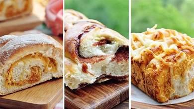 無需費力揉面,這4款麵包也都做的鬆軟有拉絲,全家都愛吃