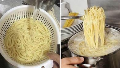 煮麵條時,水開下鍋就錯了,麵館師傅教你4招,不坨不粘筋道好吃