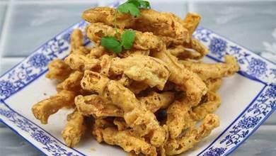 想吃椒鹽杏鮑菇別去飯店了,大廚教你在家做,酥脆椒香,特別美味