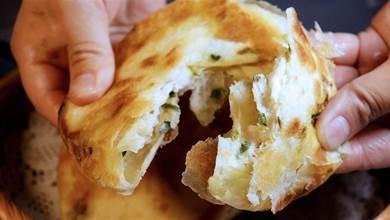 蔥花餅做法,不燙麵不揉面,學會家庭配方,外酥裡軟,比買的好吃