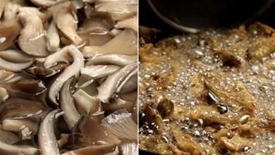 炸蘑菇時,到底用不用焯水?教你正確做法,這做出來又香又酥脆