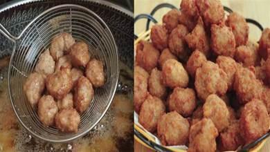 炸肉丸有人放麵粉,有人放澱粉,這才是正確做法,外酥裡嫩超級香