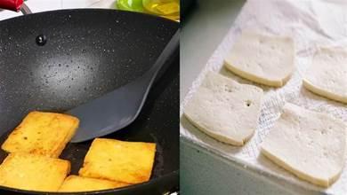 煎豆腐時,不要直接下油鍋,多加這1步,豆腐不碎也不粘鍋