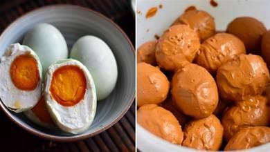 2分鐘教會你醃制鹹鴨蛋,用這個方法做,蛋黃起沙又流油,零失敗