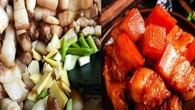 紅燒肉這樣做:不用一滴油,不加鹽不炒糖色,肥而不膩,入口即化