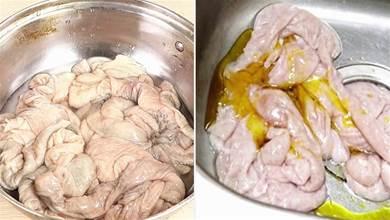 清洗豬大腸別總用鹽和麵粉,教你一招小竅門,乾淨沒異味