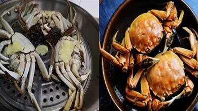 蒸螃蟹冷水下鍋還是熱水下鍋?牢記3點,螃蟹鮮嫩還不掉腿