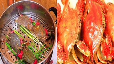 蒸螃蟹時,直接上鍋蒸就廢了!多加1步,蟹肉鮮嫩、不掉腿不流黃