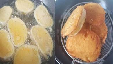 炸饅頭片,只裹蛋液可不行!教你一招,外酥裡軟不吸油,特別好吃