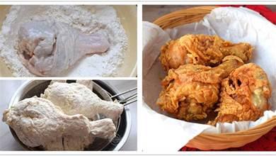 炸雞腿起鱗片很簡單,記住這7按2泡1抖,雞腿各個香酥鮮嫩