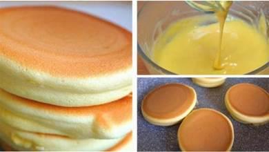 平底鍋做的舒芙蕾蛋糕,簡單又快速,入口即化非常好吃