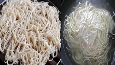 煮麵條時,切記別水開下鍋,麵食大廚透露「秘訣」出鍋勁道爽滑