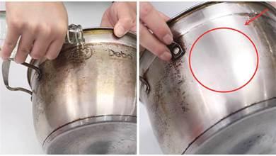 煮湯的過用久了,污漬難清理,別再用鋼絲球清理了,教你一招輕鬆去除