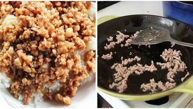 炒肉末,總是黏在一起炒不開,多做一步,肉末鹹香油酥,好吃不膩