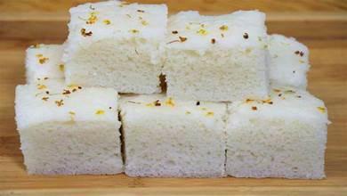 大米糕試試這樣做,不加麵粉,無發酵粉,出鍋鬆軟香甜,做法簡單
