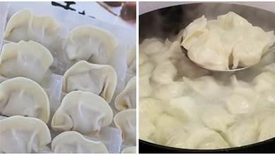 速凍水餃,直接下鍋就錯了,教你正確煮法,保證不破皮不開裂,個個完整