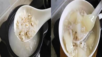 秋天,用梨子跟薏米搭配,熬成一鍋粥,清熱潤燥不上火,太好喝了