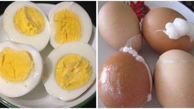 白水煮蛋,總是「爆開」,教你3個小技巧,不開裂、好剝殼