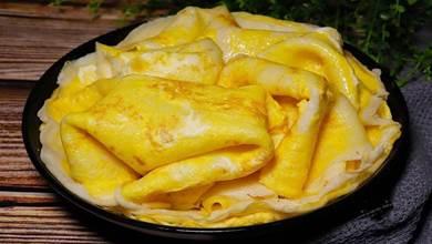 早餐學會這樣做,有雞蛋有牛奶,3分鐘做一張,出鍋營養高無難度