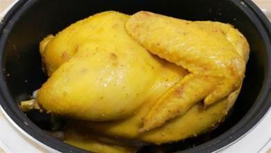 電飯煲版鹽焗雞做法,簡單易學,雞肉又嫩又香比口水雞好吃太多了