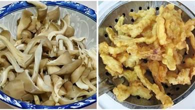 秋天多吃蘑菇,教你炸蘑菇最好吃做法,又酥又脆不吸油,太香了