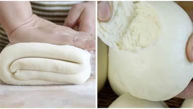 做饅頭有技巧,放幹麵粉的比例是關鍵,不幹不硬,層次分明