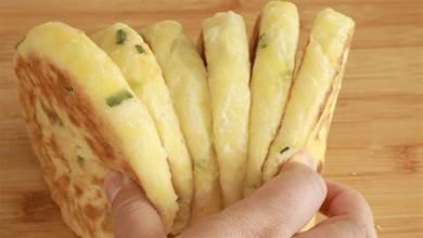 教你做涼了不硬的蔥花餅,不揉面不燙麵,筷子攪一攪,柔軟鹹香