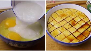 蒸雞蛋羹,最近我家從不加水,這樣蒸滑嫩有彈性,還沒蛋腥味
