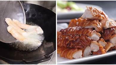 「脆皮大腸」怎麼做好吃呢?學會脆皮水是關鍵,在家也能做美食