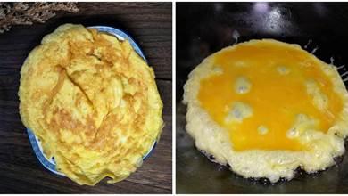 煎雞蛋,不能直接下油鍋,多加1步,蓬鬆又酥脆,香飄滿屋
