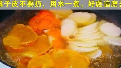 橘子皮不要扔了,全身是「寶」,用水一煮,好處這麼多