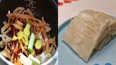 熬豬皮凍時,別直接加水熬煮,多加1個步驟,皮凍彈牙滑嫩無腥味