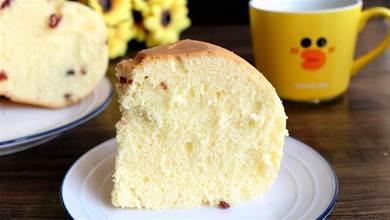 5個雞蛋1碗麵粉,不放油少放糖,用電鍋做好吃又好看的大蛋糕