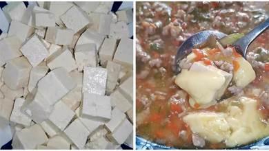 豆腐切成小丁,不炒不炸不燉,老人孩子吃最有營養,比肉還香