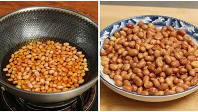 油炸花生米時,牢記3個竅門,花生不糊不回軟,焦香酥脆