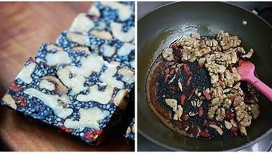 黑芝麻核桃紅棗糕,甜而不膩,營養美味,做法超簡單