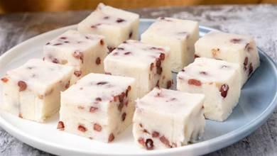 2根山藥,1碗紅豆,30分鐘就能做出,綿軟好吃的蜜豆山藥糕