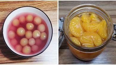 冬天6種水果做成罐頭,比新鮮的好吃,健康無添加,放半年都不壞