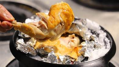 比燒雞好吃,比鹽焗雞簡單的鹽煲雞,不用鹽炒,金黃誘人香味足