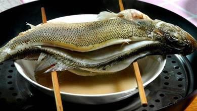 清蒸鱸魚好吃有技巧,不用放鹽和料酒,教你正確做法,鮮嫩多汁,不柴不腥