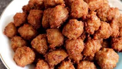 教你在家炸肉丸子,口感外酥裡嫩,營養好吃無腥味,咬一口滿嘴香