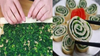 菠菜是鐘南山推薦的健康蔬菜,一卷一蒸,錦上添花端上桌,真香