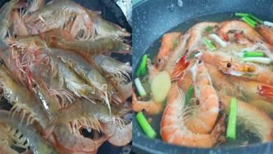 煮蝦冷水下鍋還是熱水?酒店大廚分享正確做法,蝦肉鮮甜營養足