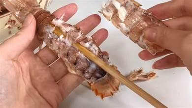 吃那麼多年海鮮,才知道皮皮蝦自帶「拉鍊」,學會後3分鐘剝一盤