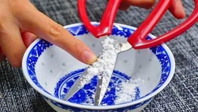 不管剪刀有多鈍,老奶奶教我一招,碗裡泡一泡,鋒利乾淨又好用