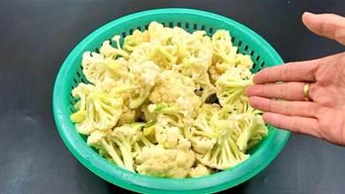洗花菜千萬別用清水洗,等於吃蟲卵,教你正確做法,髒東西跑光光