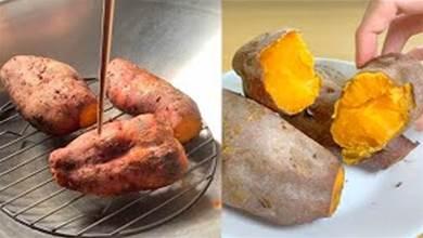 【蒸紅薯時】千萬不要直接上鍋蒸 ,教你一個妙招, 個個香甜更軟糯, 比烤紅薯還好吃